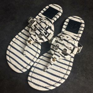 Tory Burch Miller nautical sandals s 7.5